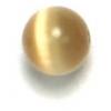 "Cat Eye Beads 6mm Round Gold Strung 16"" Fibre Optic"